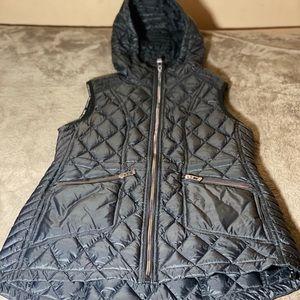 CALVIN KLEIN Black Hooded Down Vest